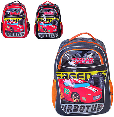 MOCHILA INFANTIL MASCULINA STANDARD CRAZY FOR SPEED 16''