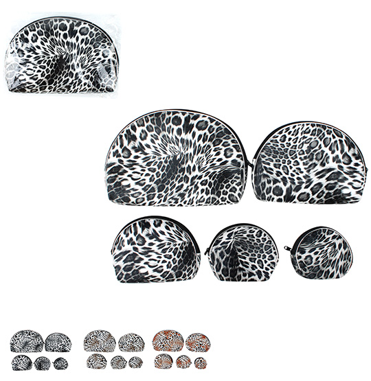 NECESSAIRE ANIMAL PRINT KIT COM 5 PECAS