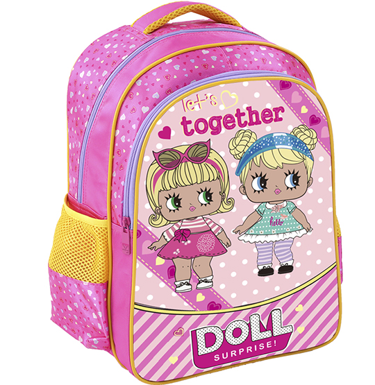 MOCHILA INFANTIL FEMININA TOGETHER DOLL 15,5''