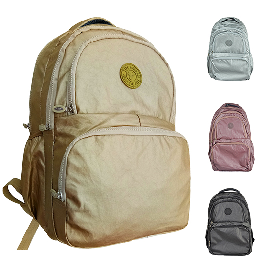 MOCHILA JUVENIL UNISSEX KLP LISA NOT SO BASIC METALIZADO 18''