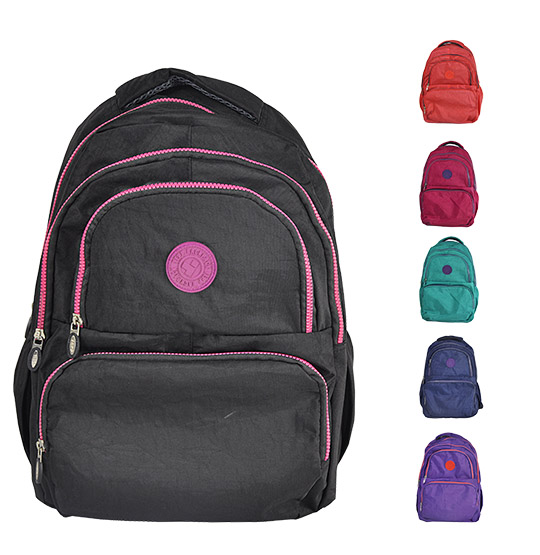 MOCHILA JUVENIL FEMININA KLP LISA NOT SO BASIC COLORS 16''