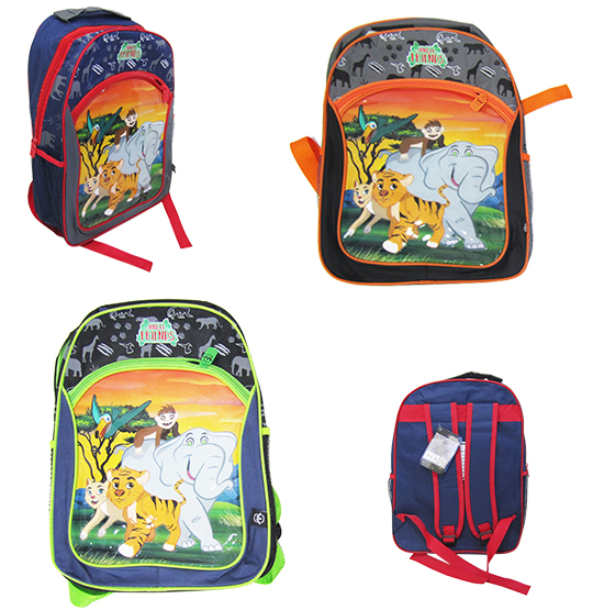MOCHILA INFANTIL MASCULINA STANDARD JUNGLE FRIENDS 16''