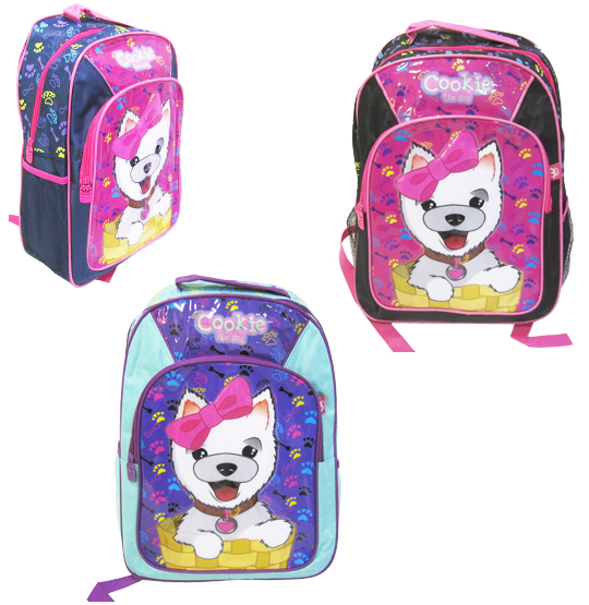 MOCHILA INFANTIL FEMININA STANDARD COOKIE THE DOG 16'' COLORS