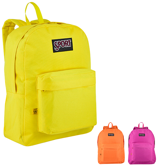 MOCHILA JUVENIL UNISSEX BASIC WINTH LISA 16'' COLORS
