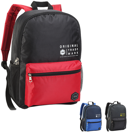 MOCHILA JUVENIL MASCULINA ORIGINAL TRADE MARK 16'' COLORS