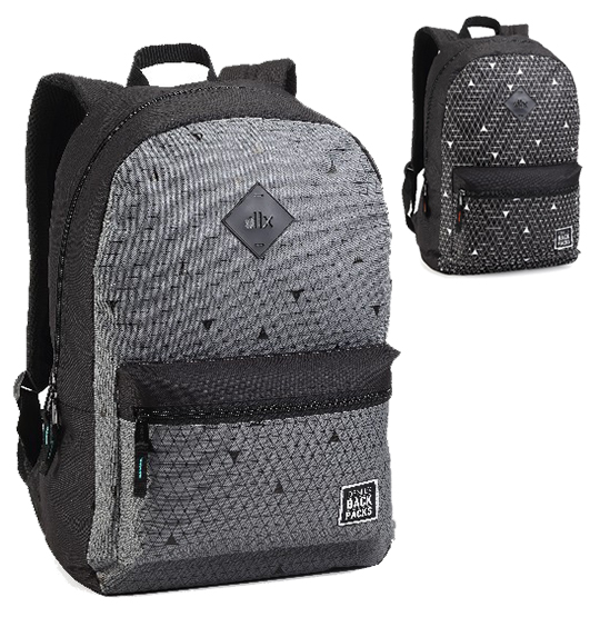 MOCHILA JUVENIL MASCULINA DLX BACK PACKS 18'' COLORS