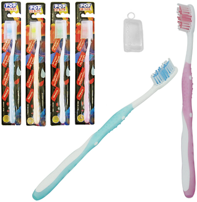 ESCOVA DENTAL MACIA COM PROTETOR DE CERDA COLORS POP DENTE