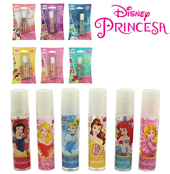 BRILHO LABIAL PRINCESAS 5ML NA CARTELA