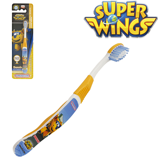 ESCOVA DENTAL INFANTIL MACIA SUPER WINGS DONNIE NA CARTELA