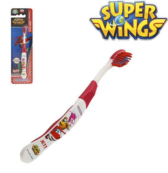ESCOVA DENTAL INFANTIL SUPER WINGS JETT NA CARTELA