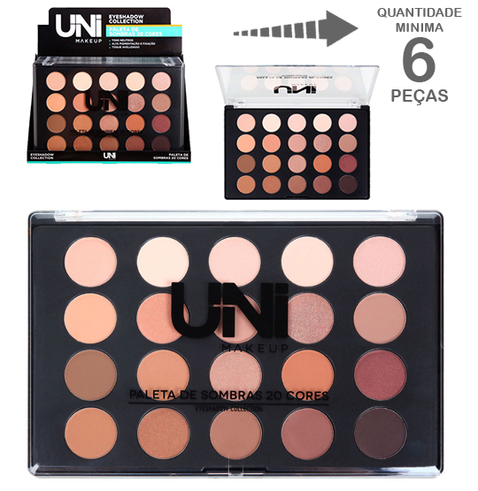 PALETA DE SOMBRA COM 20 CORES COLLECTION 48G