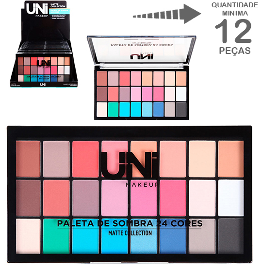 PALETA DE SOMBRA COM 24 CORES MATTE COLLECTION 36G