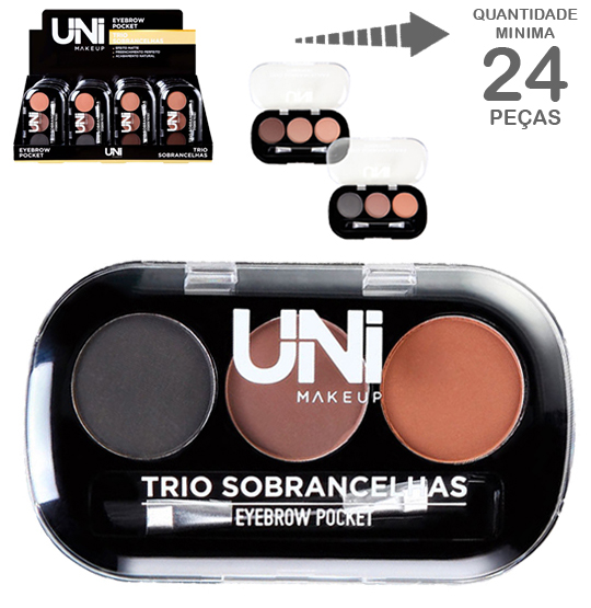 PALETA DE SOBRANCELHAS TRIO POCKET 5,5G COLORS