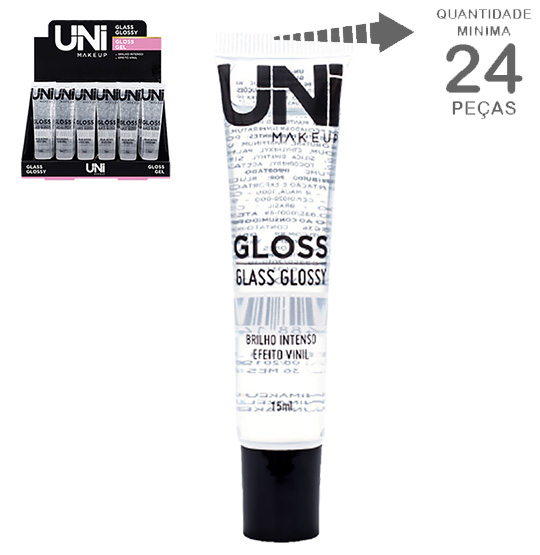 GLOSS GLASS GLOSSY GEL BRILHO INTENSO EFEITO VINIL 15ML